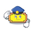 police ticket character cartoon style vector image