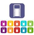 public garbage bin icons set flat vector image vector image