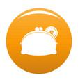 purse woman icon orange vector image vector image