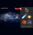realistic outer space composition vector image vector image