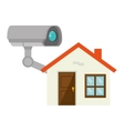 security camera system vector image vector image
