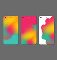 set fashionable abstract ornaments for mobile vector image vector image