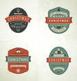 Set of Retro Vintage Typographic Merry Christmas vector image vector image