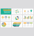 set orange green grey blue and turquoise vector image vector image