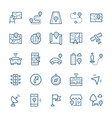 simple icon set navigation items in thin line vector image vector image