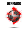 soccer ball in the color of denmark vector image vector image