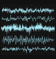 sound wave set audio technology musical pulse vector image