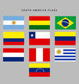 South america flags vector image vector image