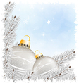 Sparkling Christmas decorations vector image vector image