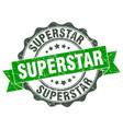 superstar stamp sign seal vector image vector image