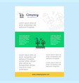 template layout for air turbine comany profile vector image vector image