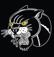 tiger black old scholl tattoo vector image vector image