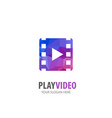 video play logo for business company simple vector image