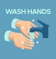 wash hands skin disinfection antibacterial hand vector image