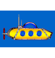 Yellow submarine on white vector image vector image