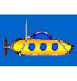 Yellow submarine on white vector image vector image