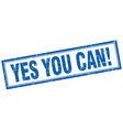 yes you can blue square grunge stamp on white vector image vector image