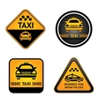 Taxi cab set stickers vector image