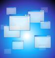 web blue background vector image