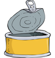 yellow tin vector image