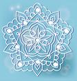 mandala on the blue background vector image