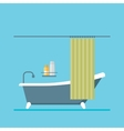 modern design shower room with a curtain vector image