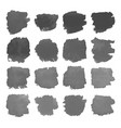set of gray watercolor stains on white vector image