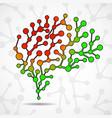 abstract brain human vector image vector image