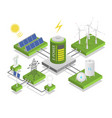 alternative electric energy electricity power vector image vector image