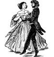 ancient dancing pair vector image