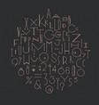 art deco alphabet dark vector image