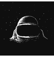 astronaut in outer space vector image vector image