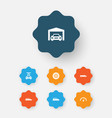 automobile icons set collection of wheel vector image