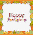 autumn leaves background to thanksgiving vector image