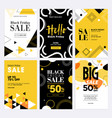 black friday sale banners vector image vector image