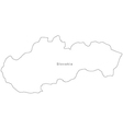 Black White Slovakia Outline Map vector image vector image