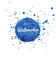 blue watercolor splash background vector image vector image