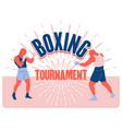 boxing tournament vintage poster logo emblem vector image
