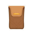 brown purse case for money or documents money and vector image vector image