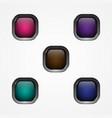 button square vector image vector image