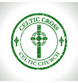 celtic cross-celtic church vector image vector image