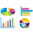 chart icons vector image vector image