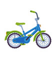 childish bicycle ecological sport transport cute vector image