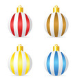 christmas ball design set vector image vector image