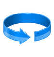 circular blue arrow vector image