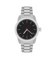classical grey hands watch for man vector image vector image