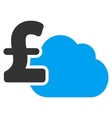 Cloud Pound Banking Flat Icon Symbol vector image vector image