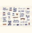 collection of elegant wedding lettering or vector image vector image