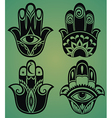 Collection of hamsa hands vector image vector image