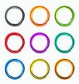 color abstract circles loops logo vector image vector image